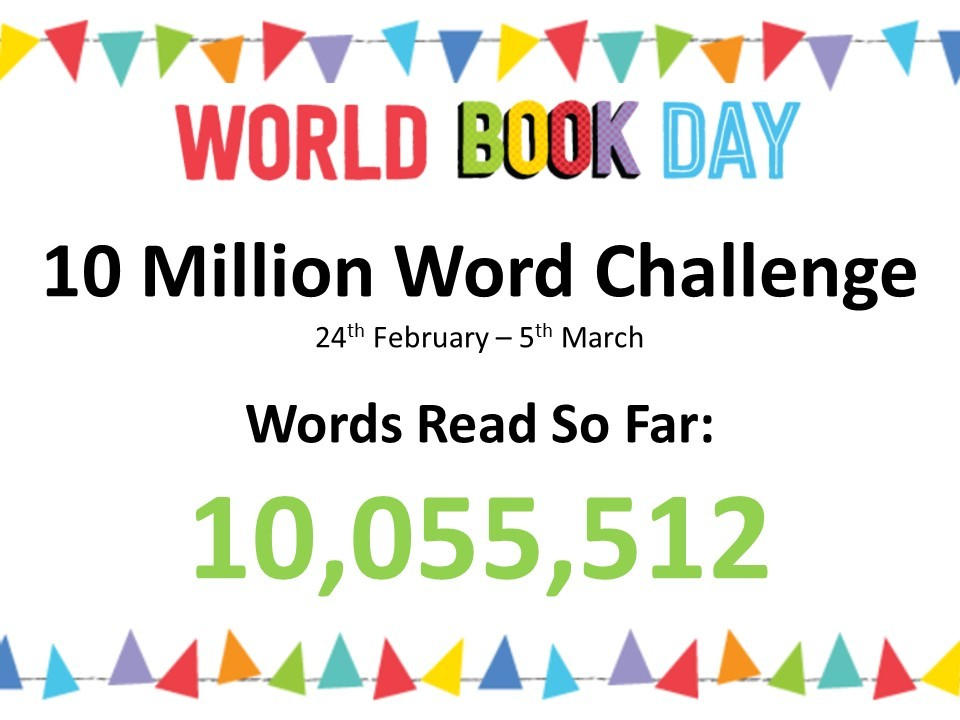 World Book Day   10 Million Word ChallengeGOAL